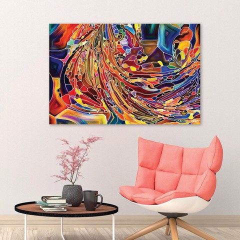 Tranh Canvas Colorful Abstract 7 Alila (40x60cm - 50x75cm - 60x90cm)