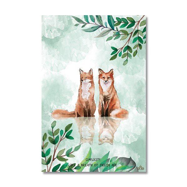 Tranh Canvas Couple Fox Alila (60x90cm)
