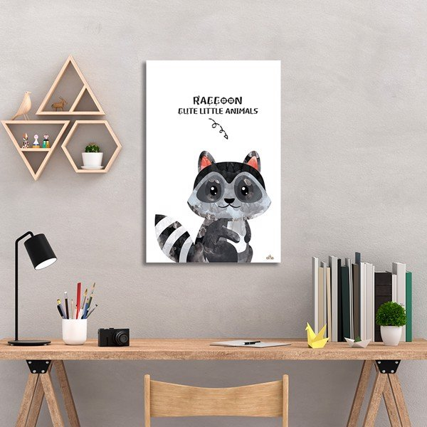 Tranh Canvas Cute Raccoon Alila (60x90cm)