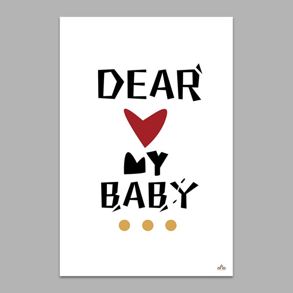 Tranh Canvas Dear My Baby Alila (60x90cm)