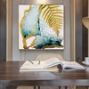 Tranh Canvas Gold And Blue Abstract Alila (80x80cm)