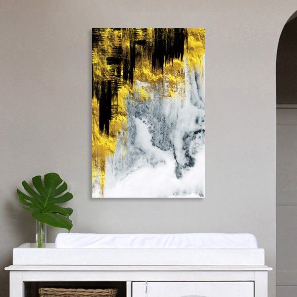 Tranh Canvas Gold And Gray Alila (60x90cm)