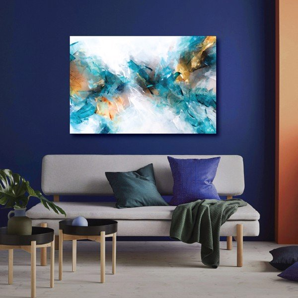 Tranh Canvas Ocean Blue Abstract Alila (30x45cm - 40x60cm - 50x75cm - 60x90cm)