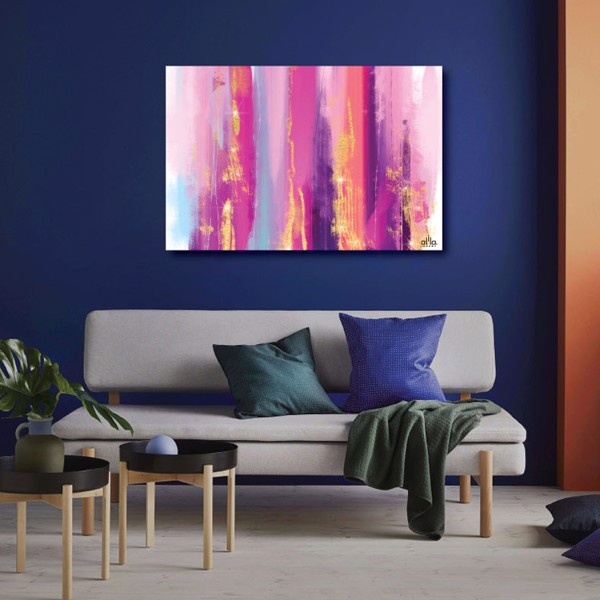 Tranh Canvas Pink Abstract Alila (60x90cm)