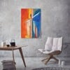 Tranh Canvas Red And Blue Abstract Alila (40x60cm - 50x75cm - 60x90cm)