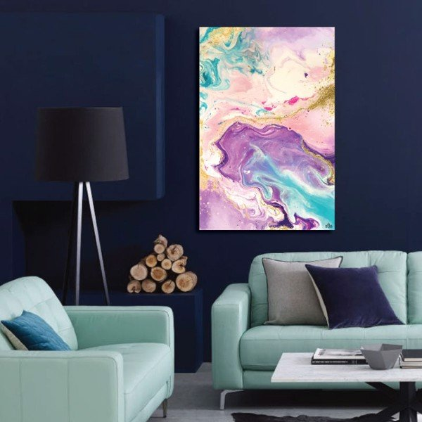Tranh Canvas Spill Color Abstract Alila (30x45cm - 40x60cm - 50x75cm - 60x90cm)