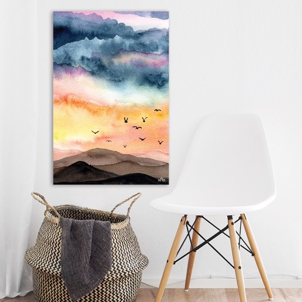 Tranh Canvas The Birds In The Sky (60x90cm)