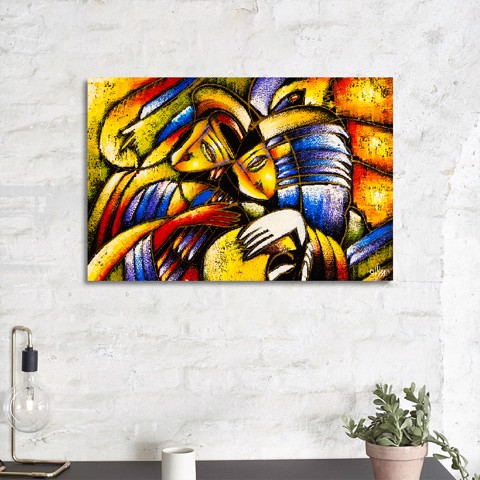 Tranh Canvas The Face Abstract Alila (40x60cm - 50x75cm - 60x90cm - 80x120cm - 100x150cm)