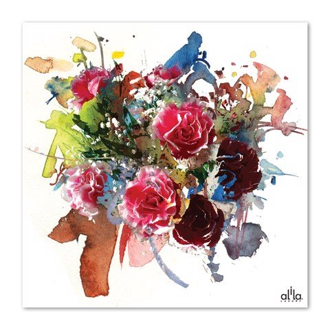 Tranh Canvas The Flower 17 Alila (40x40cm - 60x60cm)