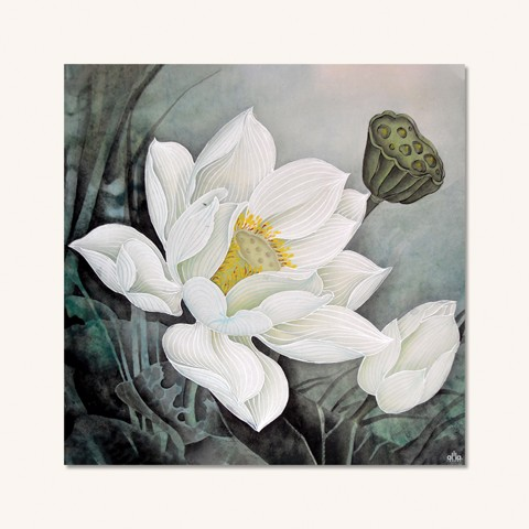 Tranh Canvas The Flower 18 Alila (40x40cm - 60x60cm - 80x80cm)