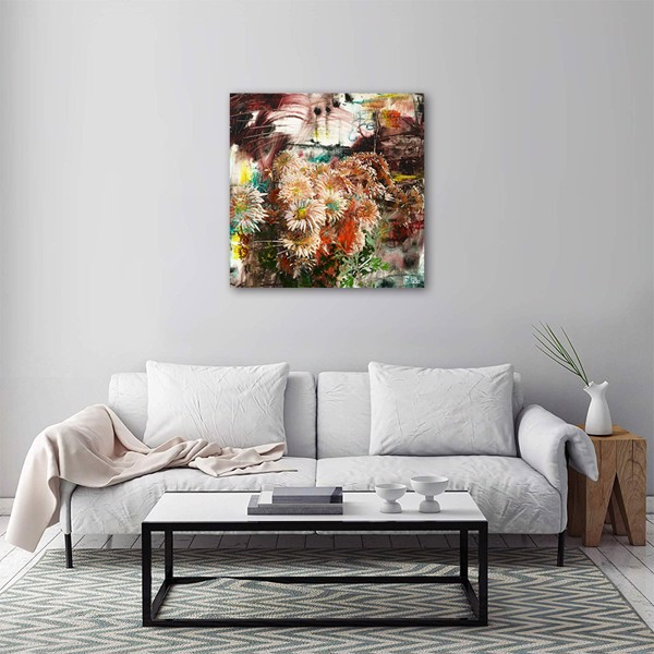 Tranh Canvas The Flower 6 Alila (80x80cm)