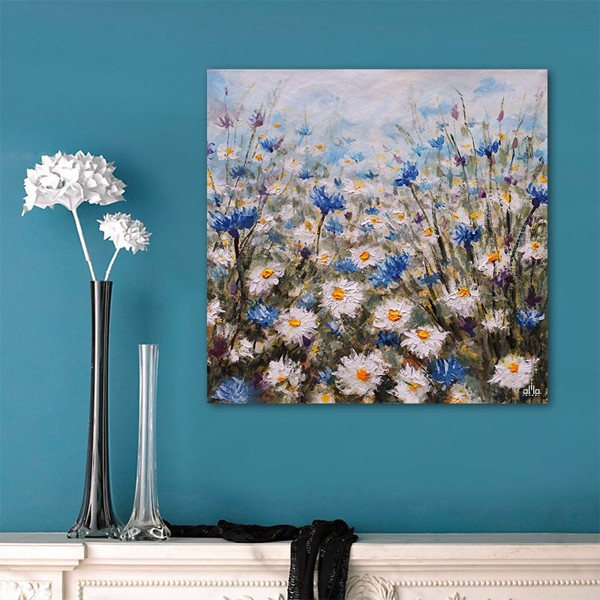 Tranh Canvas The Flower 7 Alila (80x80cm)