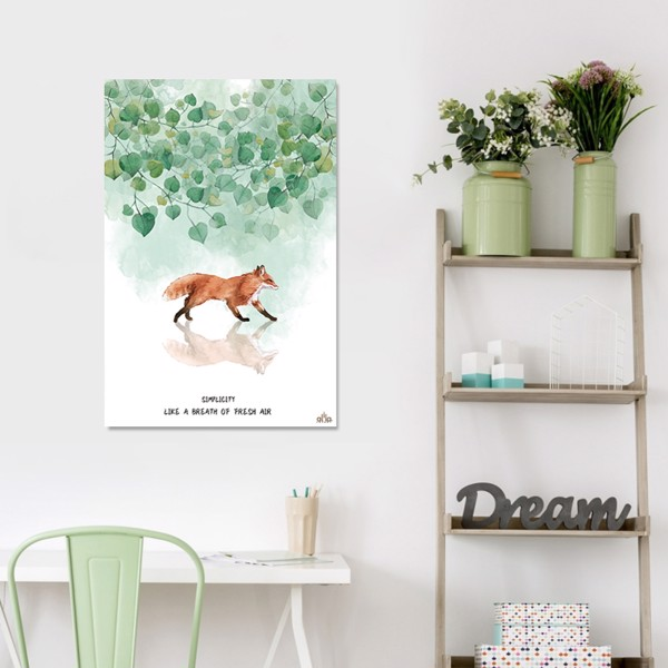 Tranh Canvas The Fox 2 Alila (60x90cm)