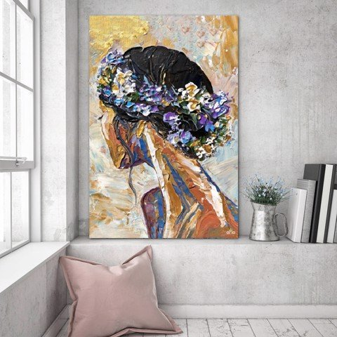 Tranh Canvas The Girl 1 Alila (30x45cm - 40x60cm - 50x75cm - 60x90cm)