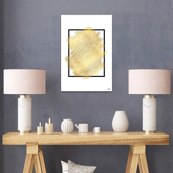 Tranh Canvas The Gold Abstract Alila (60x90cm)