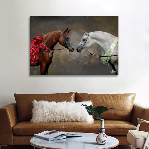 Tranh Canvas The Horses 3 Alila (30x45cm - 40x60cm - 50x75cm)