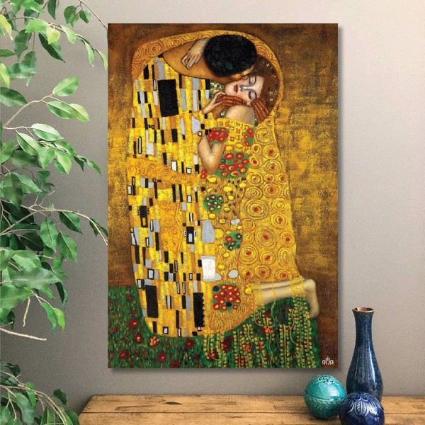 Tranh Canvas The Kiss 01 Alila (30x45cm - 40x60cm - 50x75cm - 60x90cm - 80x120cm - 100x150cm)