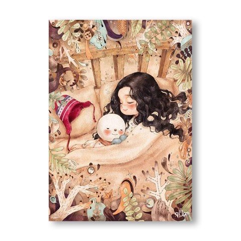 Tranh Canvas The Little Girl 1 Alila (30x45cm - 40x60cm - 50x75cm - 60x90cm)