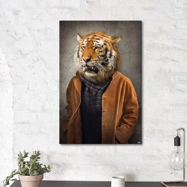 Tranh Canvas The Man With Tiger Alila (60x90cm)