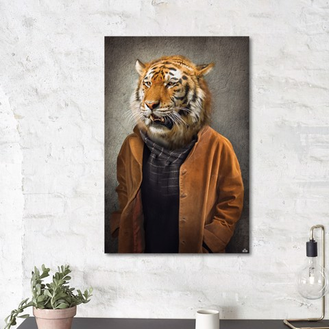 Tranh Canvas The Man With Tiger Alila (40x60cm - 50x75cm - 60x90cm)