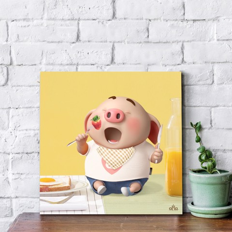 Tranh Canvas The Pig 11 Alila (40x40cm - 50x50cm - 60x60cm)