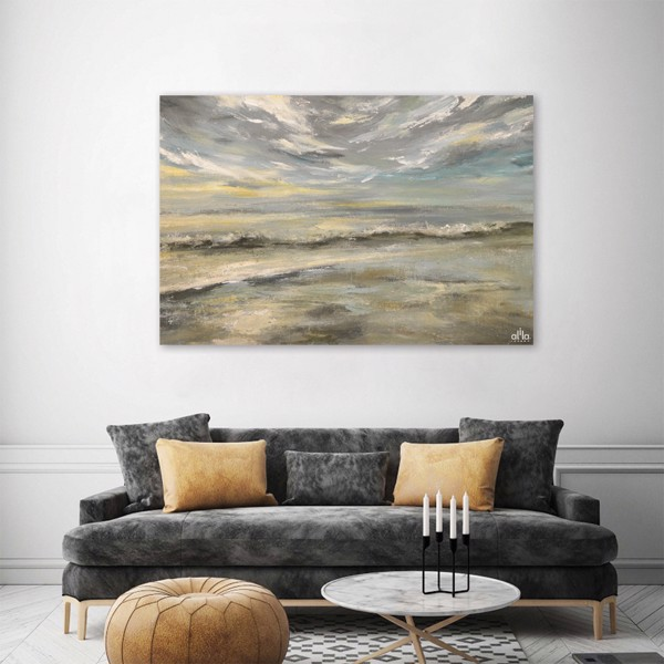 Tranh Canvas The Wave Abstract Alila (60x90cm)