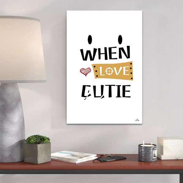 Tranh Canvas When Love Cutie Alila (60x90cm)
