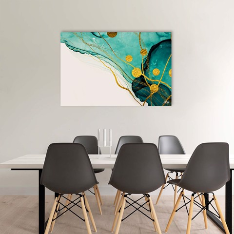 Tranh Canvas Yellow And Navy Abstract Alila (40x60cm - 50x75cm - 60x90cm)