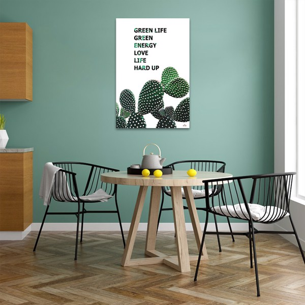 Tranh Quote Green Life Alila (60x90cm)