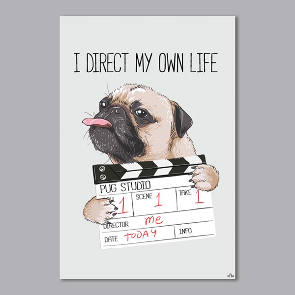 Tranh Quote I Direct My Own Life Alila (40x60cm - 50x75cm - 60x90cm)