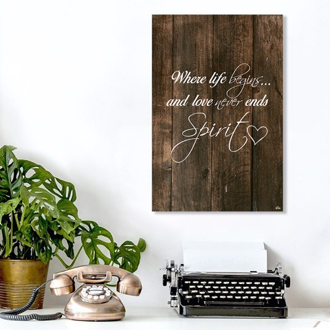 Tranh Quote Where Life Begins Alila (40x60cm - 50x75cm - 60x90cm)