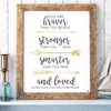 Tranh Quote You Are Braver Alila (40x60cm - 50x75cm - 60x90cm)