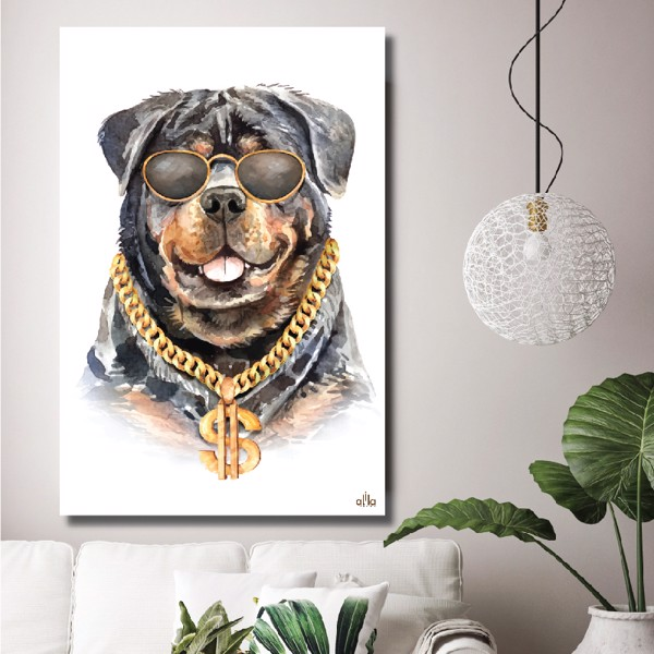 Tranh Canvas Fashion Dog 02 Alila (60x90cm)
