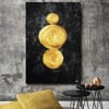 Tranh Canvas Gold And Black Alila (60x90cm - 80x120cm - 100x150cm)