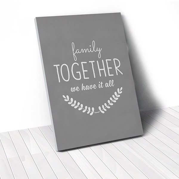 Tranh Canvas Quote Family Together (40x60cm - 50x75cm - 60x90cm)