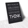 Tranh Canvas Quotes Think Different (40x60cm - 50x75cm - 60x90cm)