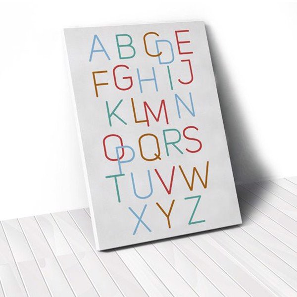 Tranh Canvas Quotes Alphabet 2 (40x60cm - 50x75cm - 60x90cm)