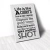 Tranh Canvas Quotes Life Is Like A Camera (40x60cm - 50x75cm - 60x90cm)