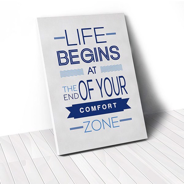 Tranh Canvas Quotes Life Begins (40x60cm - 50x75cm - 60x90cm)