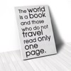 Tranh Canvas Quotes The World Is A Book (40x60cm - 50x75cm - 60x90cm)