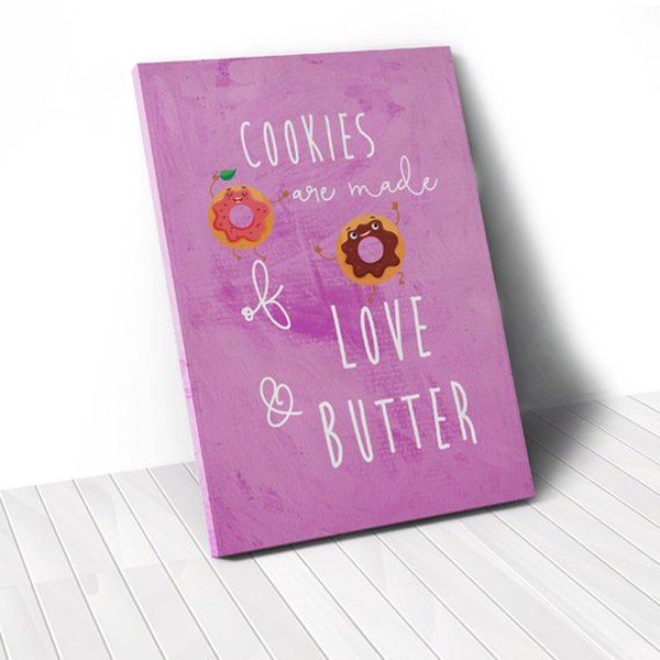 Tranh Canvas Quotes Cookies (40x60cm - 50x75cm - 60x90cm)