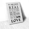 Tranh Canvas Quotes In This Home We Do Real White (40x60cm - 50x75cm - 60x90cm)