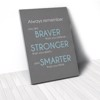Tranh Canvas Quotes You Are Braver Gray (40x60cm - 50x75cm - 60x90cm)