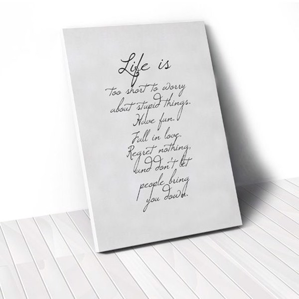 Tranh Canvas Quotes Life (40x60cm - 50x75cm - 60x90cm)