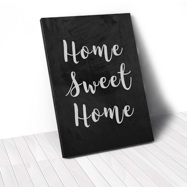 Tranh Canvas Quotes Home Sweet Home (40x60cm - 50x75cm - 60x90cm)