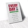 Tranh Canvas Quotes Everyday Is An Adventure Green And Red (40x60cm - 50x75cm - 60x90cm)