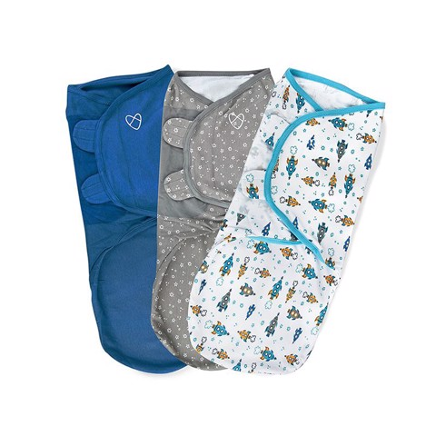 Set 3 chăn quấn SwaddleMe Superstar Boy size L