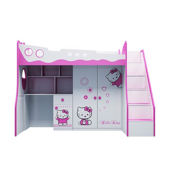 Giường tầng trẻ em 3 trong 1 Hello Kitty