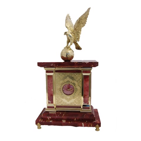 Đồng hồ Lapis Luxury Clock & Mod with Gold Falcon