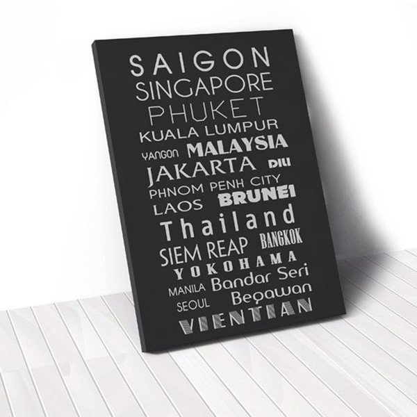 Tranh Canvas Quotes Cityname (40x60cm - 50x75cm - 60x90cm)